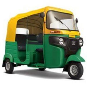 Yellow and Green CNG and Petrol BAJAJ Compact Auto Rickshaw